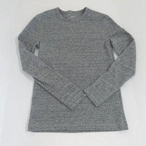 Sonoma Men's Long Sleeve Tee Shirt, Gray, Small